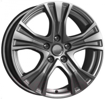 Billiga fälgar online  - 7X17 KiK KC673 Dark Platinum 5/112 ET48 CH66
