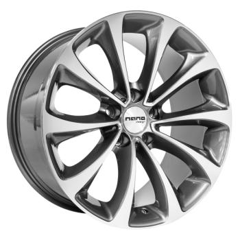 Billiga fälgar online  - 9,5X19 Nano BK845 Grey Polished 5/120 ET30 CH74