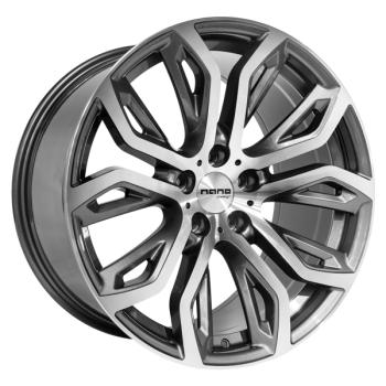 Billiga fälgar online  - 9,5X20 Nano BK510 Grey Polished 5/120 ET35 CH74