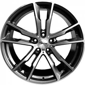 Billiga fälgar online  - 1X20 Nano BK5053 Grey Polished 5/120 ET40 CH74