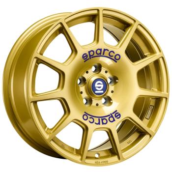 Billiga fälgar online  - 7,5X17 OZ Sparco Terra Gold 5/100 ET48 CH63